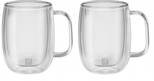 Zwilling Sorrento Double Wall - zestaw 2 kubków 450ml do latte macchiato